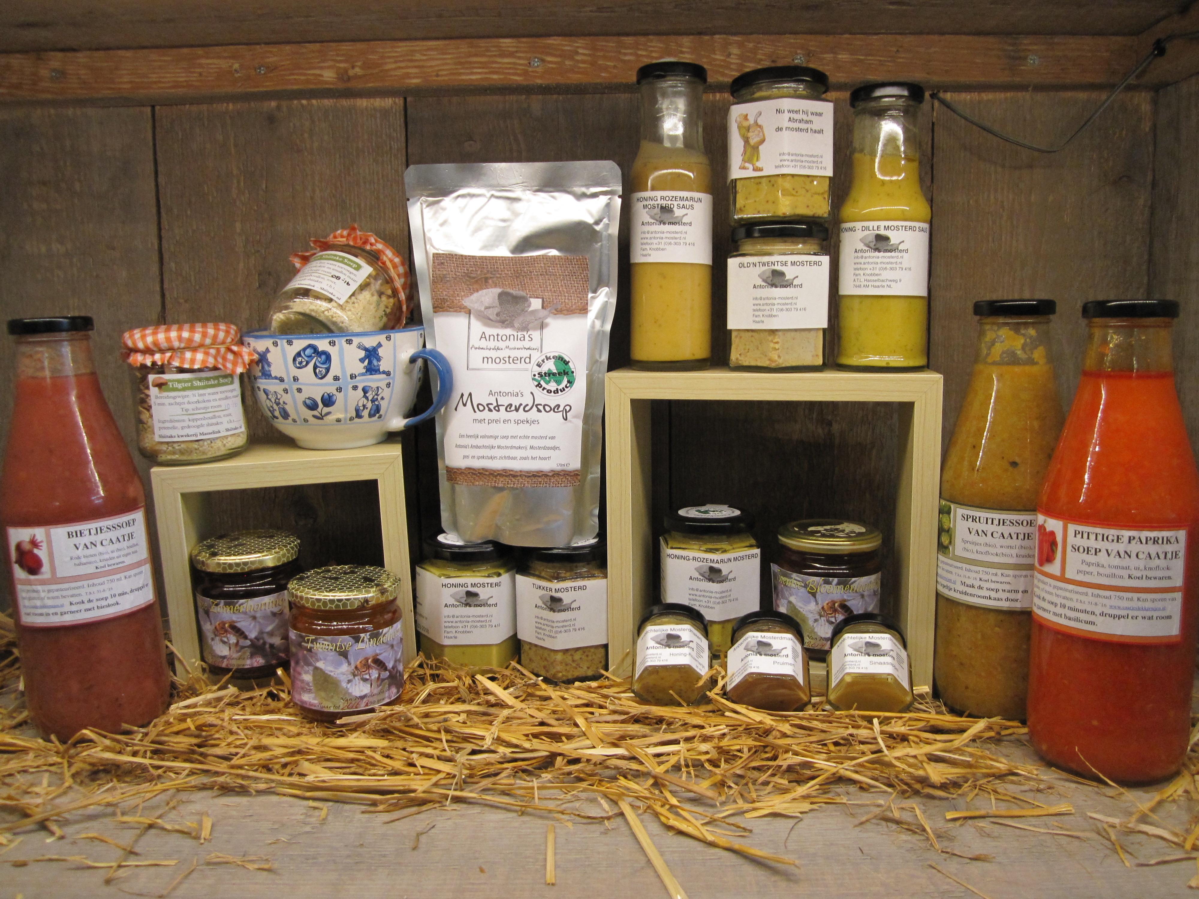 Honing, moster en soep